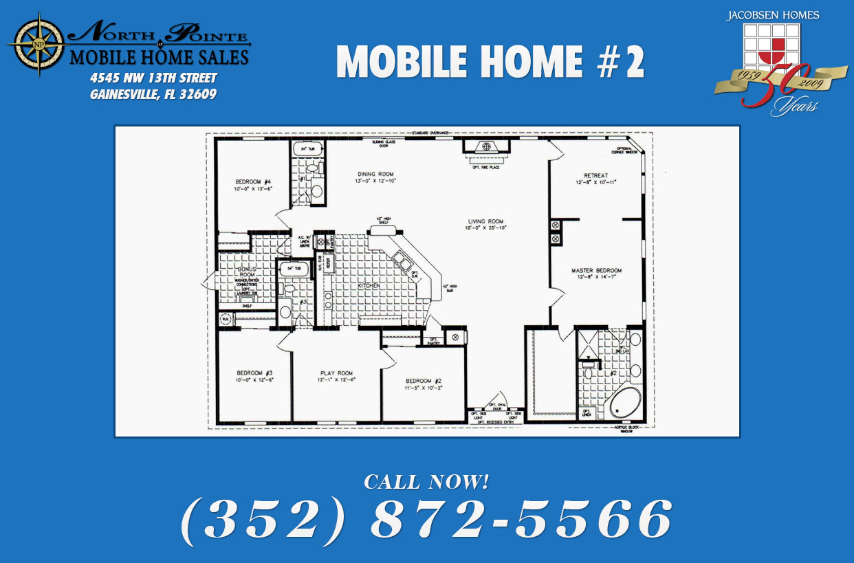 Jacobsen mobile home floor plans for Mobile home plans