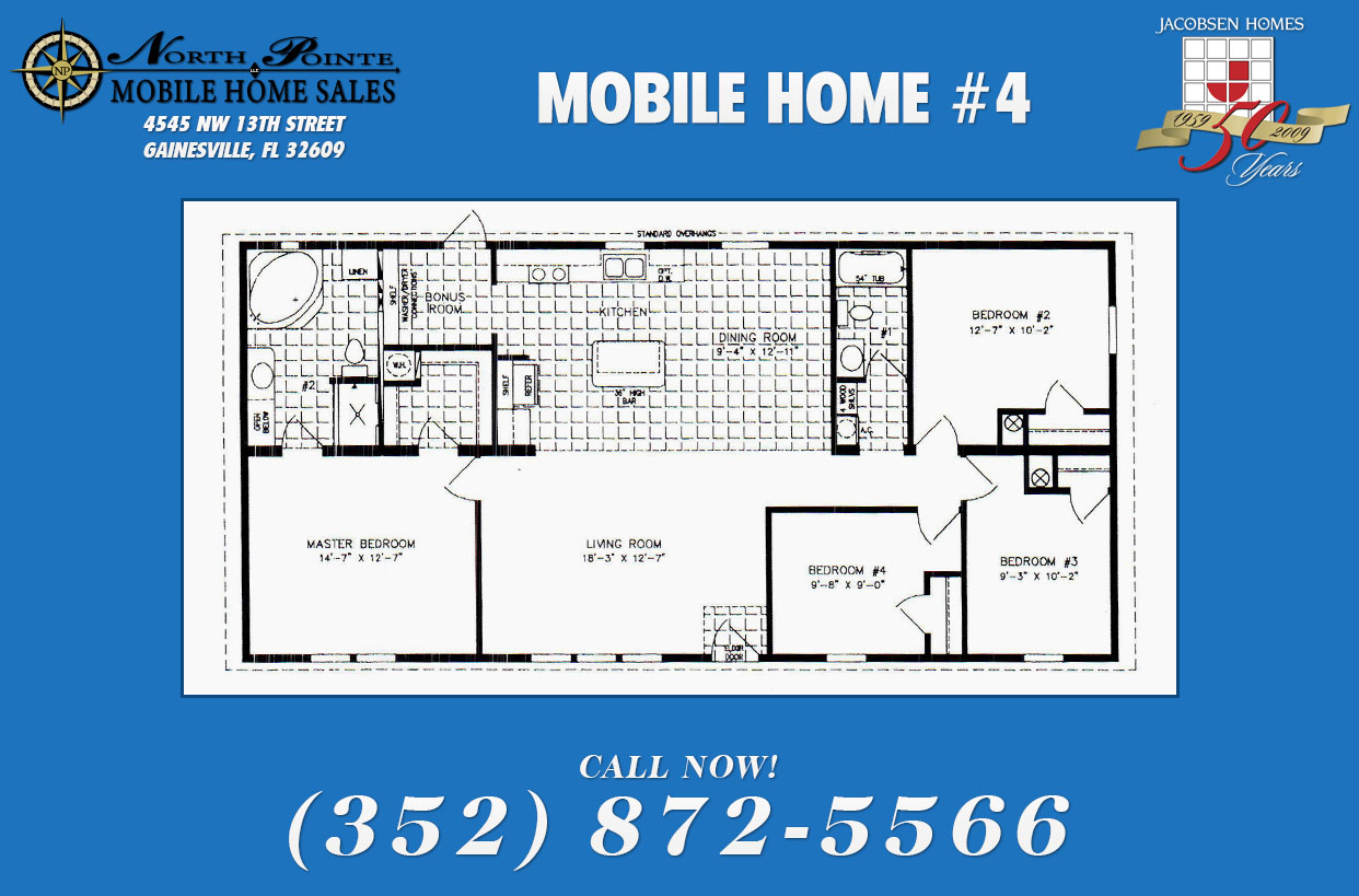 North pointe mobile homes a mobile home super center for Mobile home floor plans florida